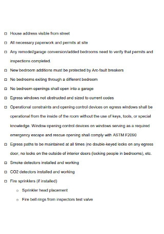 Home Care Inspection Checklist