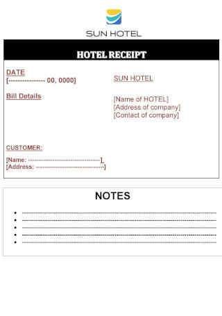 Hotel Invoice Template