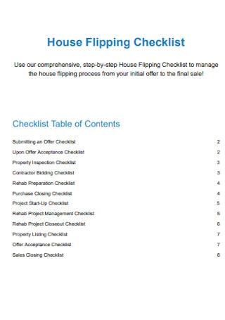 House Flipping Checklist