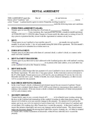 House Rental Lease Agreements