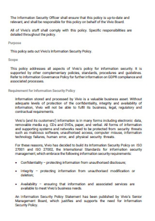 Information Security Policy Manual