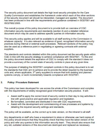 Information Security and Governance Policy