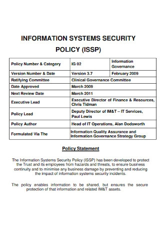 Information System Security Policy