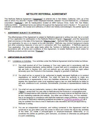 Institute Referral Agreement