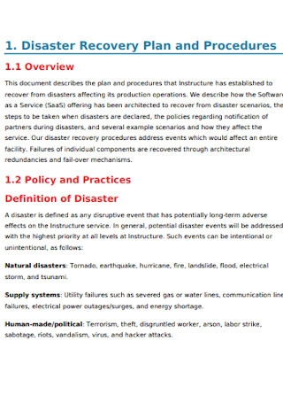Instructure Disaster Recovery Plan