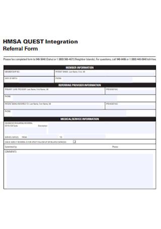 Integration Referral Form