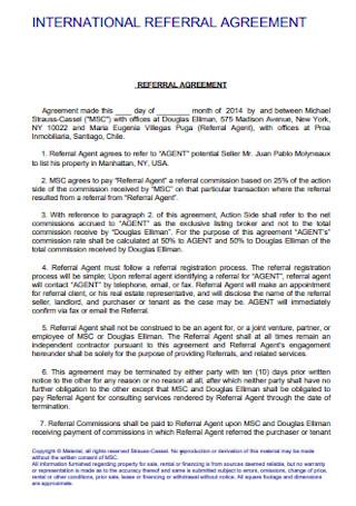 International Referral Agreement