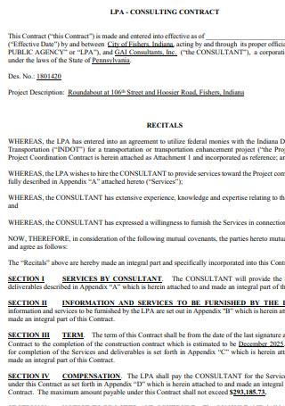 LPA Consultant Contract