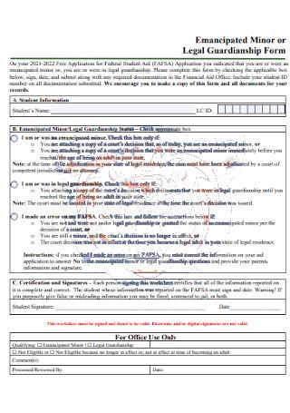 Legal Guardianship Form
