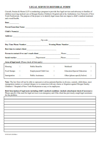 Legal Services Referral Form