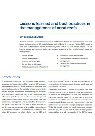 Lessons Management Learned