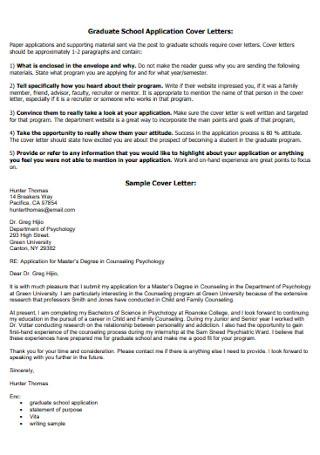 Letter of Application for School