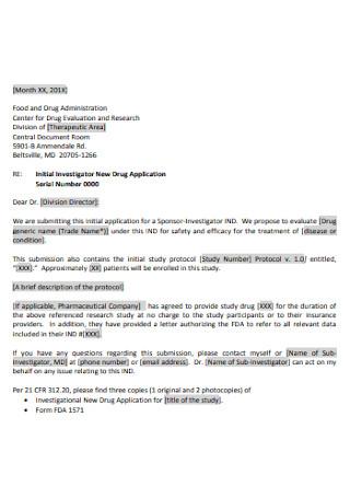 Letter of New Drug Application
