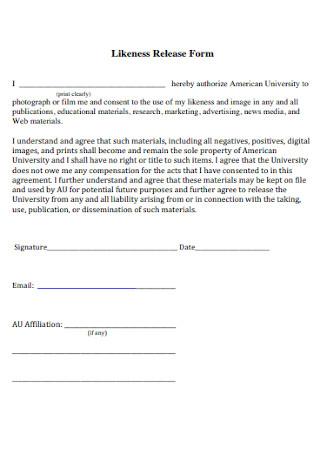 Likeness Release Form