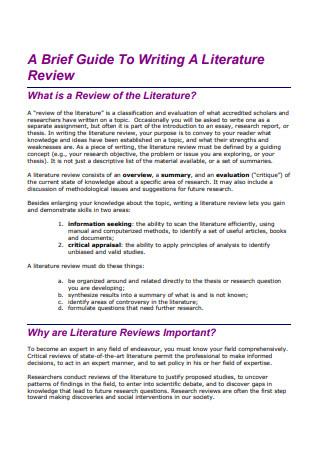 Literature Review Brief