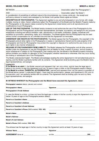 Minior Model Release Form