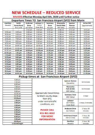 New Hourly Schedule
