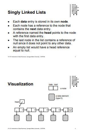 Organizing Data Linearly