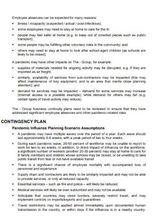 Pandamic Contingency Plan