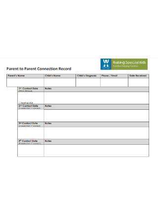 Parent to Parent Contact Log1