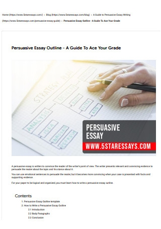 Persuasive Essay Outline with Sample