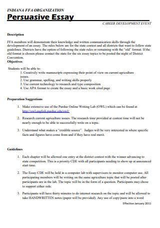 Persuasive Essay Rules