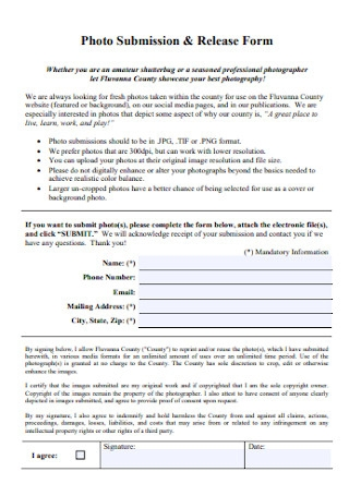 Photo Submission and Release Form