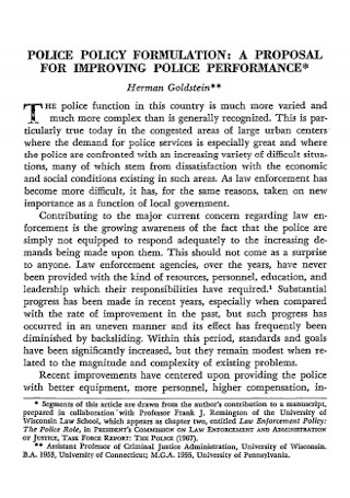 Police Policy Proposal