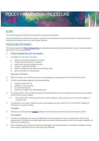 Policy Framework Procedure
