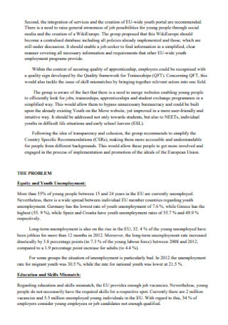 Policy Proposal on Youth Unemployment