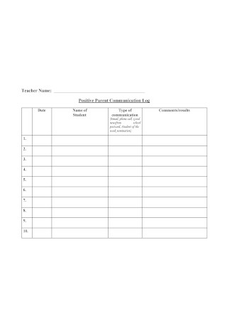 PositiveParent Communication Log