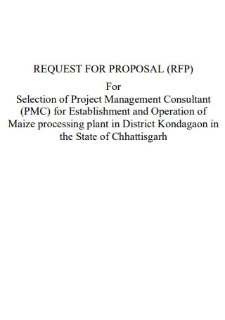 Project Consulting Proposal