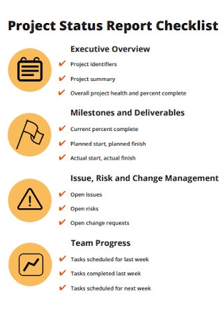 Project Status Report Checklists