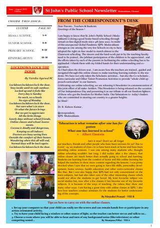Public School Newsletter