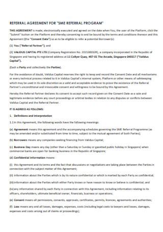 Referral Program Agreement