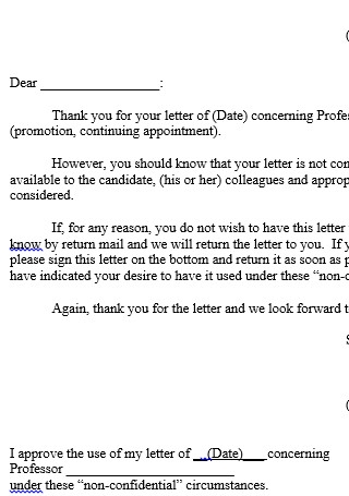 Release Letter in Word Template