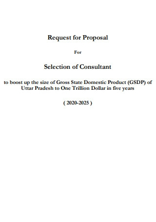 Request for Proposal For Selection of Consultant