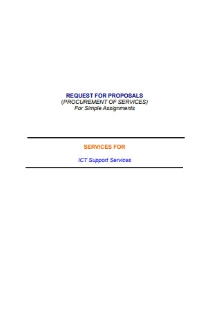 Request for Proposal for Consulting Services