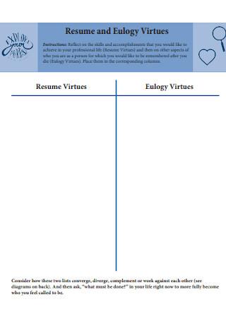 Resume and Eulogy Virtues