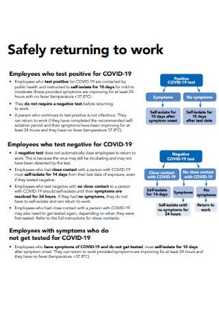 Safety Return to Work