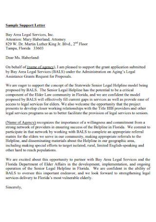 Sample Legal Support Letter