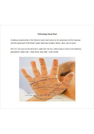 Sample Reflexology Hand Chart