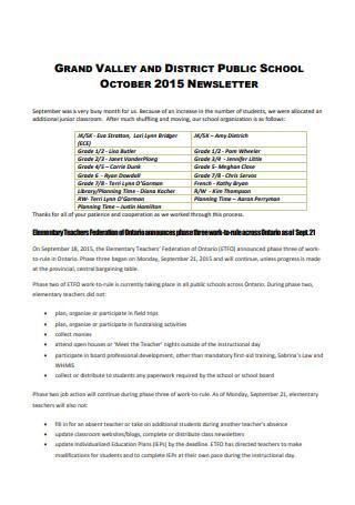 School October Newsletter