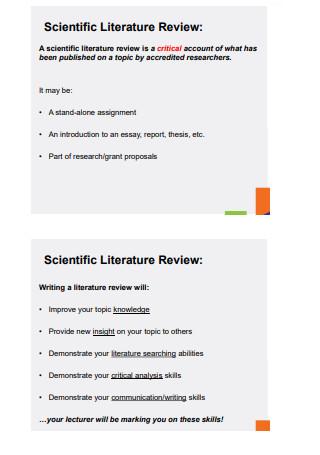 Scientific Literature Review