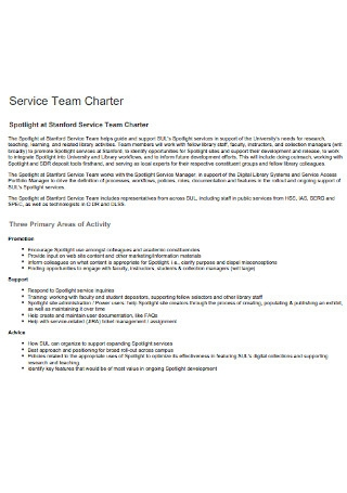 Service Team Charter