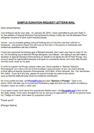 Simple Donation Request Letter