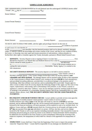 Simple Rental Lease Agreement