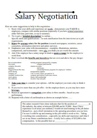 Simple Salary Negotiation Letter