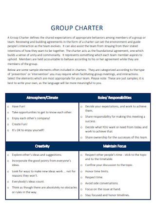 Simple Team Charter