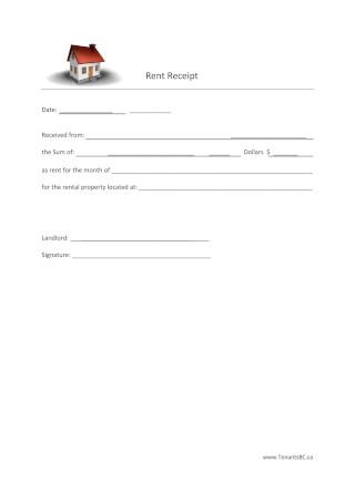 Simple Tenant Receipt